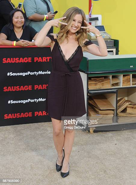 Actress Sugar Lyn Beard arrives at the premiere of Sony's Sausage Party at Regency Village Theatre on August 9 2016 in Westwood California