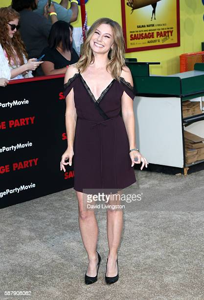 Actress Sugar Lyn Beard attends the premiere of Sony's Sausage Party at Regency Village Theatre on August 9 2016 in Westwood California