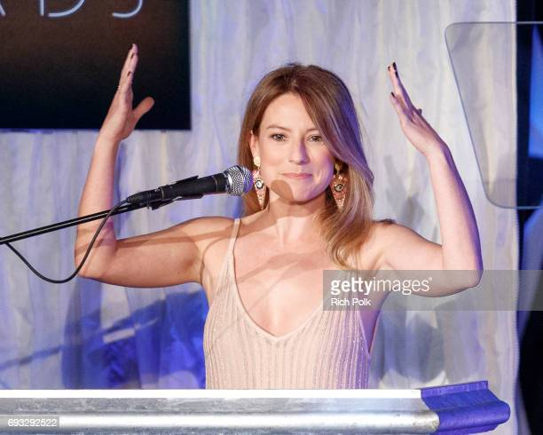 Actress Sugar Lyn Beard speaks on stage at the 18th Annual Golden Trailer Awards Hosted By Wayne Brady on June 6 2017 in Beverly Hills California