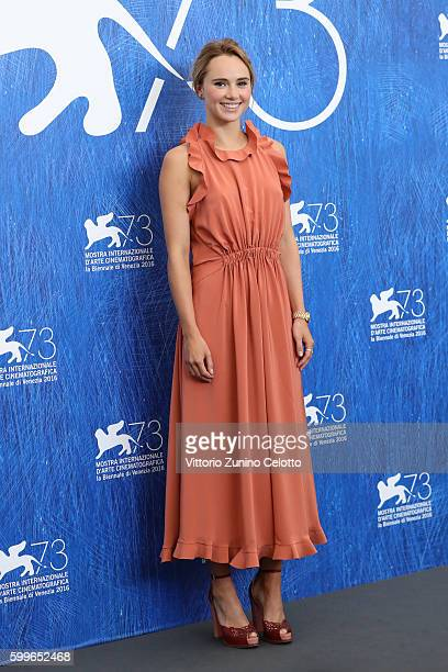 Actress Suki Waterhouse attends a photocall for 'The Bad Batch' during the 73rd Venice Film Festival at on September 6 2016 in Venice Italy