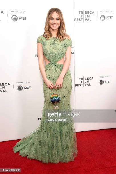 Actress Suki Waterhouse attends a screening of 'Charlie Says' during the 2019 Tribeca Film Festival at Village East Cinema on May 01, 2019 in New...
