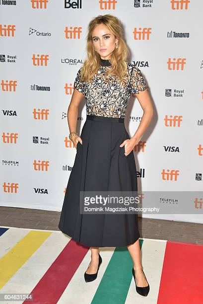 Actress Suki Waterhouse attends 'The Bad Batch' premiere during the 2016 Toronto International Film Festival at the Ryerson Theatre on September 13...