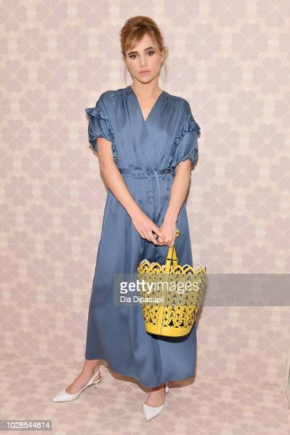Actress Suki Waterhouse attends the Kate Spade New York Fashion Show during New York Fashion Week at New York Public Library on September 7 2018 in...