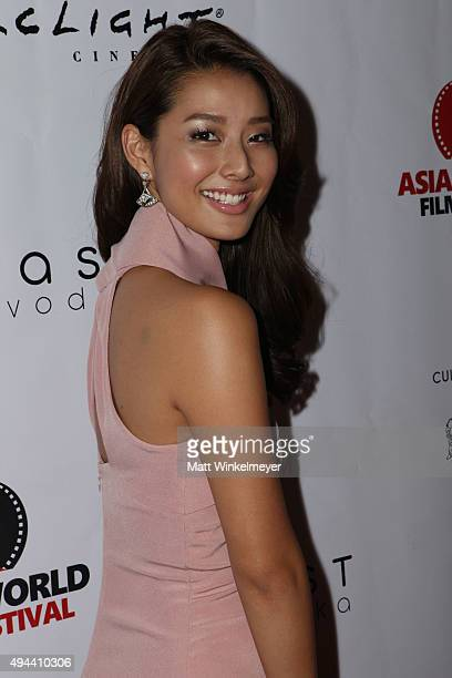 Actress Sumire Matsubara arrives at the Asian World Film Festival opening night red carpet awards gala and film at The Culver Hotel on October 26...