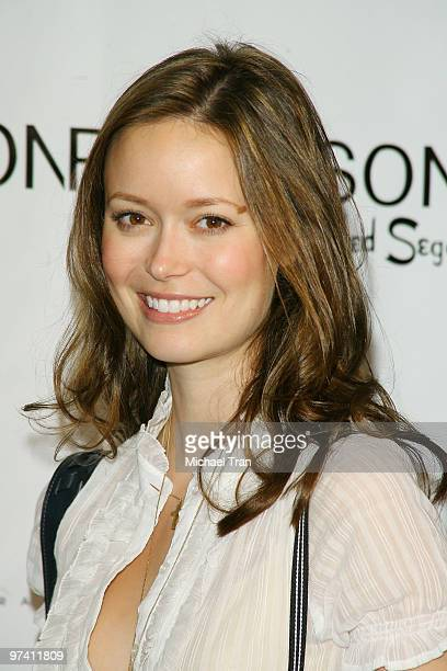 Actress Summer Glau arrives at Nyakio Grieco's 'Safi' Fragrance Launch party held at APOTHIA inside Fred Segal on March 20 2008 in Los Angeles...