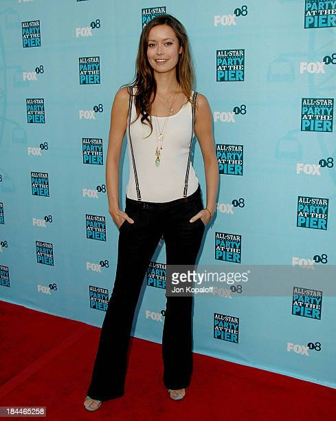 Actress Summer Glau arrives at the 'Fox AllStar Party At The Pier' at the Santa Monica Pier on July 14 2008 in Santa Monica California