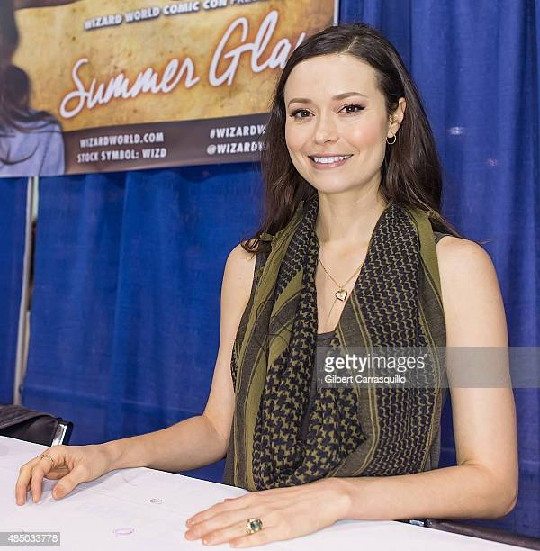 Actress Summer Glau attends Wizard World Comic Con Chicago 2015 Day 4 at Donald E Stephens Convention Center on August 22 2015 in Chicago Illinois