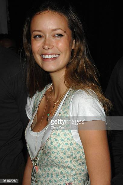 Actress Summer Glau poses at Golden Apple Comics on September 13 2008 in Hollywood California