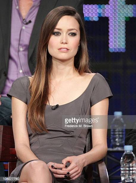 Actress Summer Glau speaks during 'The Cape' panel during the NBC Universal portion of the 2011 Winter TCA press tour held at the Langham Hotel on...