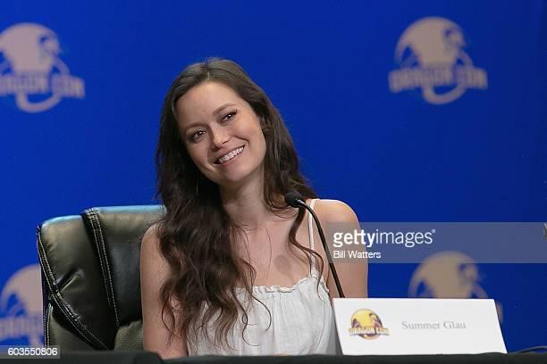 Actress Summer Glau speaks on the Firefly spotlight panel at Dragon Con on September 4 2016 in Atlanta Georgia