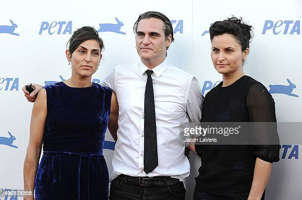 Actress Summer Phoenix actor Joaquin Phoenix and actress Rain Phoenix attend PETA's 35th anniversary party at Hollywood Palladium on September 30...