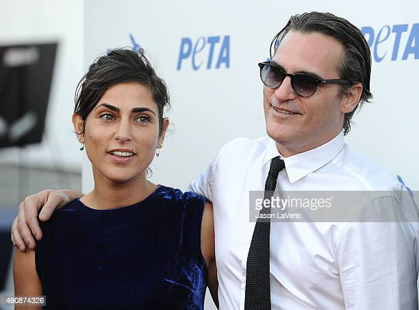 Actress Summer Phoenix and actor Joaquin Phoenix attend PETA's 35th anniversary party at Hollywood Palladium on September 30 2015 in Los Angeles...