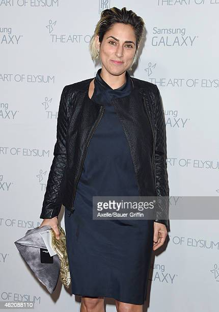 Actress Summer Phoenix arrives at The Art Of Elysium 8th Annual Heaven Gala at Hangar 8 on January 10, 2015 in Santa Monica, California.
