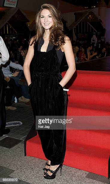 Actress Summer Strallen attends the ribbon at the opening of the new Ed Hardy store at Westfield on December 1, 2009 in London, England.