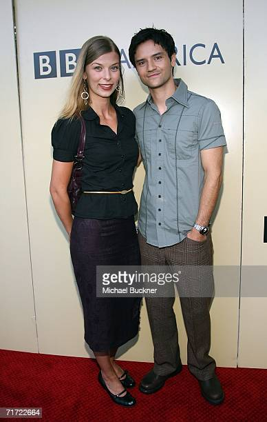 Actress Summer Thome and actor Richard Kahan arrive at the BAFTA/LAAcademy of Television Arts and Sciences Tea Party at the Century Hyatt on August...