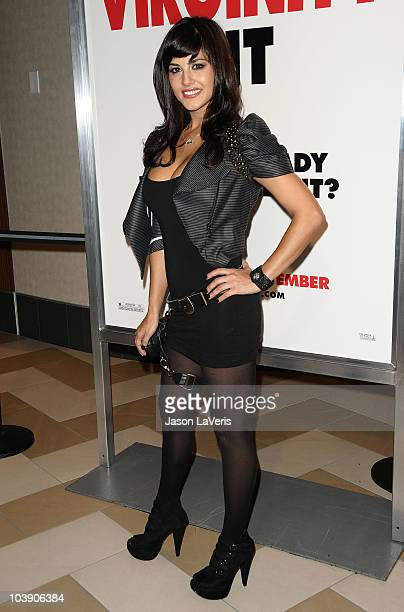 Actress Sunny Leone attends a screening of The Virginity Hit at Regal 14 at LA Live Downtown on September 7 2010 in Los Angeles California