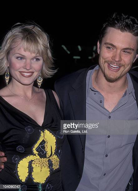 Actress Sunny Mabrey and actor Clayne Crawford attend the premiere of 'A Walk To Remember' on January 23 2002 at Grauman Chinese Theater in Hollywood...
