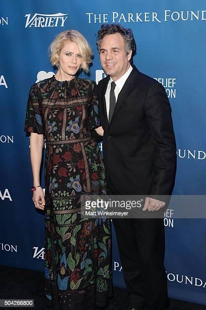 Actress Sunrise Coigney and actor Mark Ruffalo arrive at the 5th Annual Sean Penn Friends HELP HAITI HOME Gala benefiting J/P Haitian Relief...