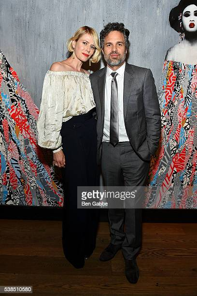 Actress Sunrise Coigney and actor Mark Ruffalo attend the Now You See Me 2 world premiere after party at TAO Downtown on June 6 2016 in New York City
