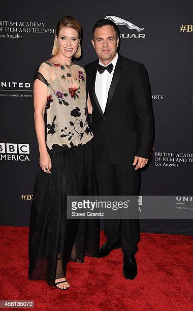 Actress Sunrise Coigney and honoree Mark Ruffalo attend the 2014 BAFTA Los Angeles Jaguar Britannia Awards Presented By BBC America And United...