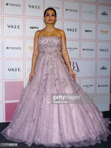 Actress Surveen Chawla attends the Vogue Beauty Awards 2019 on September 25, 2019 in Mumbai, India.