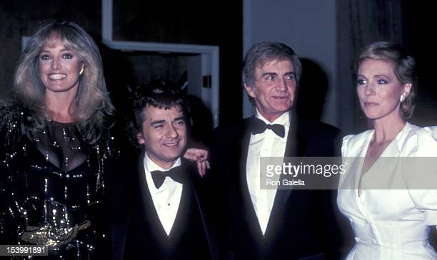 Actress Susan Anton, actor Dudley Moore, director Blake Edwards and actress Julie Andrews attend the 40th Annual Golden Globe Awards on January 29,...