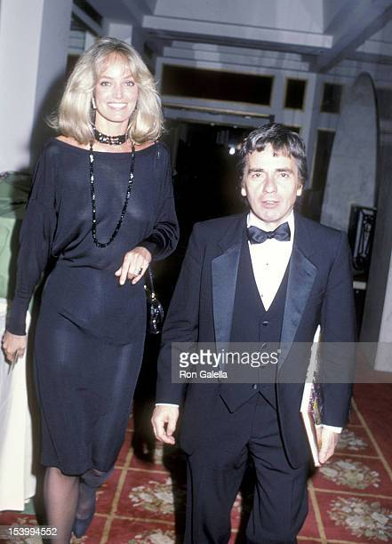 Actress Susan Anton and actor Dudley Moore attend the British Olympic Association/USA Hosts a Gala Dinner in Honor of Prince Andrew During His...