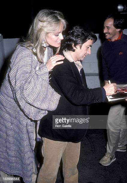 Actress Susan Anton and actor Dudley Moore on December 17, 1983 dine at Spago in West Hollywood, California.
