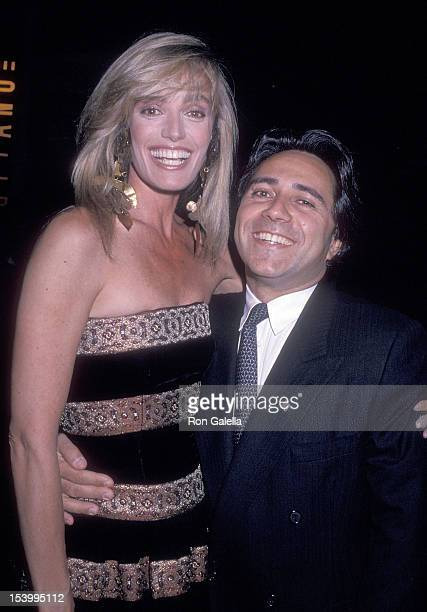 Actress Susan Anton and businessman Haim Dabah attend the party to celebrate the launch of Susan Anton's Workout Video 'Slimatics The Total Fitness...