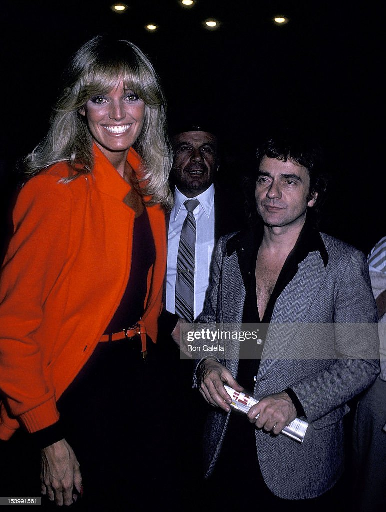 """Susan Anton and Dudley Moore attend a performance of the Broadway musical """"It's So Nice to Be Civilized"""" : News Photo"""