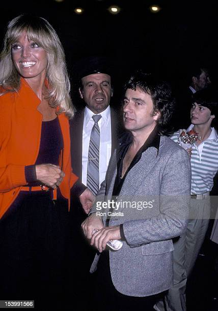 Actress Susan Anton and Dudley Moore attend a performance of the Broadway musical 'It's So Nice to Be Civilized' on May 30 1980 at the Martin Beck...