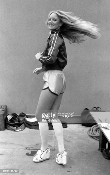 Actress Susan Anton attends First Annual Rock and Roll Sports Classic on March 10 1978 at the University of California in Irvine California