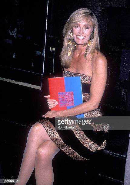 Actress Susan Anton Celebrates the Launch of her Workout Video 'Slimatics The Total Fitness Program for Life / First Steps to Fitness' on May 2 1989...