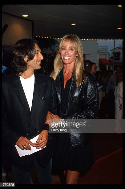 Actress Susan Anton stands next to her fiancT Fred at the premiere of Arthur 2 June 22 1988 in Los Angeles CA Arthur 2 was a sequel to the successful...