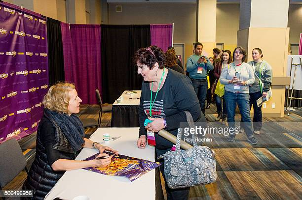 Actress Susan Blackwell attends BroadwayCon 2016 at the New York Hilton Midtown on January 23 2016 in New York City