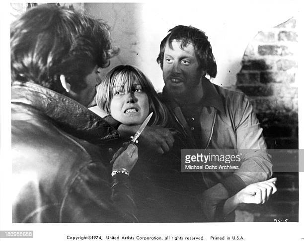 Actress Susan Blakely on set of the United Artists movie Report to the Commissioner in 1975
