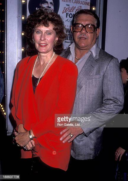 Actress Susan Clark and actor Alex Karras attend the opening of Will Rogers Follies on July 14 1993 at the Pantages Theater in Hollywood California