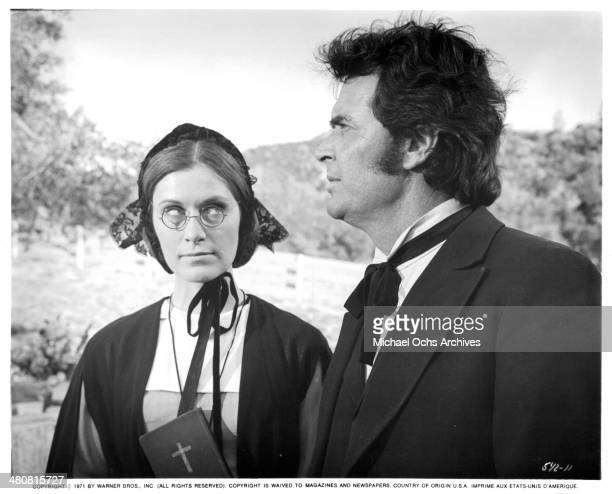 Actress Susan Clark and actor James Garner in a scene from the movie Skin Game circa 1971