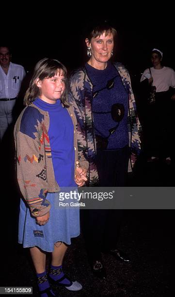 Actress Susan Clark and daughter attend ProChoice Rally on November 12 1989 at Rancho Park in Los Angeles California