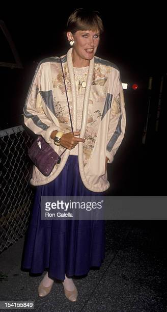 Actress Susan Clark attends the opening of The Cocktail Hour on April 19 1990 at the Doolittle Theater in Hollywood California