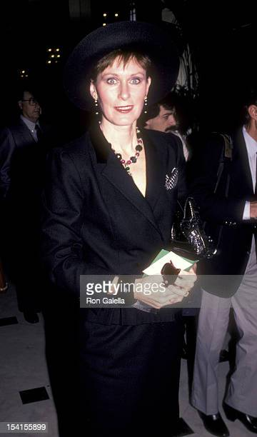 Actress Susan Clark attends Women's Press Club Golden Apple Awards on December 9 1984 at the Beverly Wilshire Hotel in Beverly Hills California