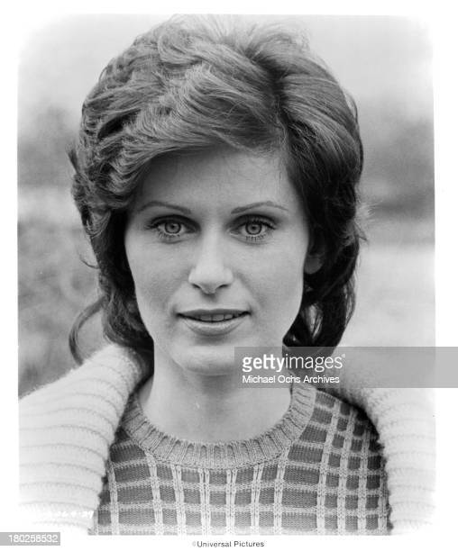 Actress Susan Clark poses on the set of the Universal Pictures movie The Midnight Man in 1974