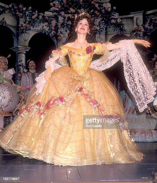 Actress Susan Egan performs in the 'Beauty and the Beast' Opening Night Performance on April 18 1994 at The Palace Theatre in New York City