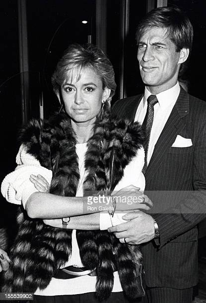 Actress Susan George and actor Simon MacCorkindale attend the grand opening of the Bombay Palace Restaurant on February 11 1985 at the Bombay Palace...