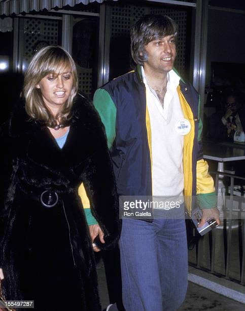 Actress Susan George and guest attend the 47th Annual Academy Awards Rehearsals on April 7 1975 at Dorothy Chandler Pavilion in Los Angeles California
