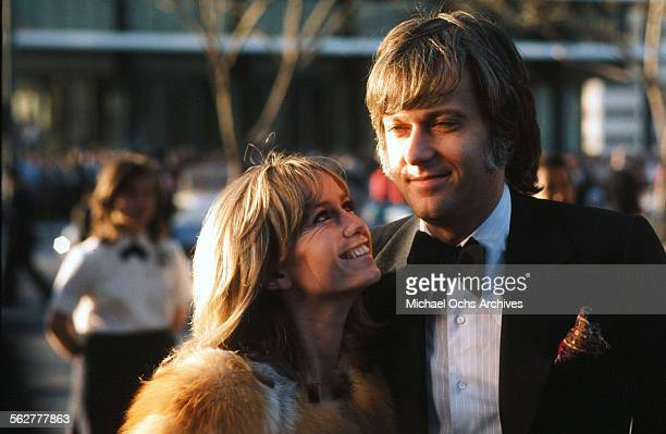 Actress Susan George and singer Jack Jones arrive to the 46th Academy Awards at Dorothy Chandler Pavilion in Los AngelesCalifornia