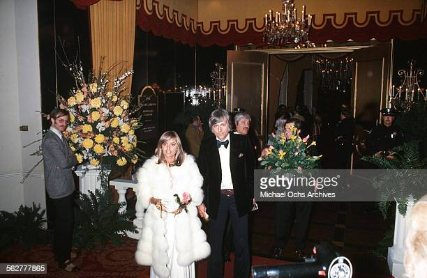 Actress Susan George and singer Jack Jones arrive to the 47th Academy Awards at Dorothy Chandler Pavilion in Los AngelesCalifornia