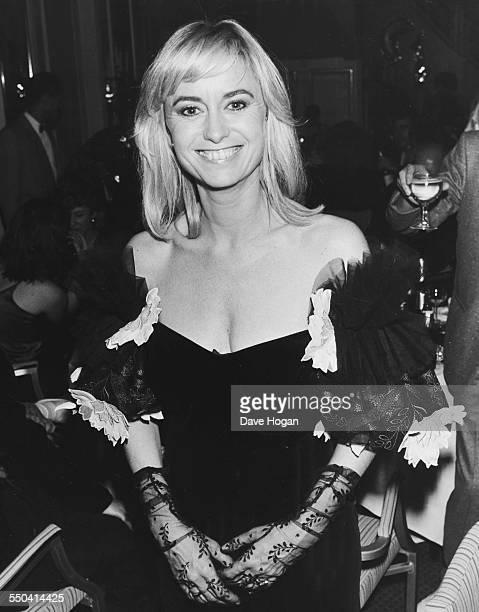 Actress Susan George attending the Creative Ball at Grosvenor House Hotel, London, November 20th 1986.