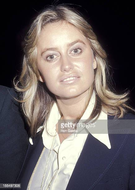 Actress Susan George on February 14 1977 dines at The Palm in Los Angeles California