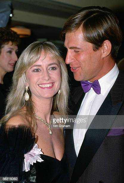 Actress Susan George with actor husband Simon McCorquodale in London.